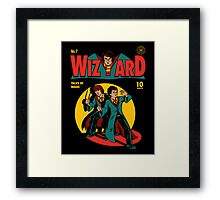 Wizard Comic Framed Print