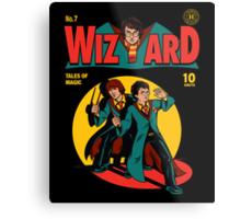 Wizard Comic Metal Print