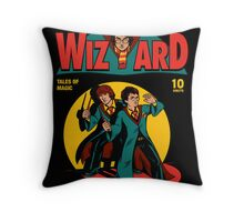 Wizard Comic Throw Pillow