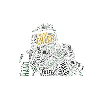 Master Chief Wordart Photographic Print