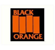 Orange & Black Flag Art Print