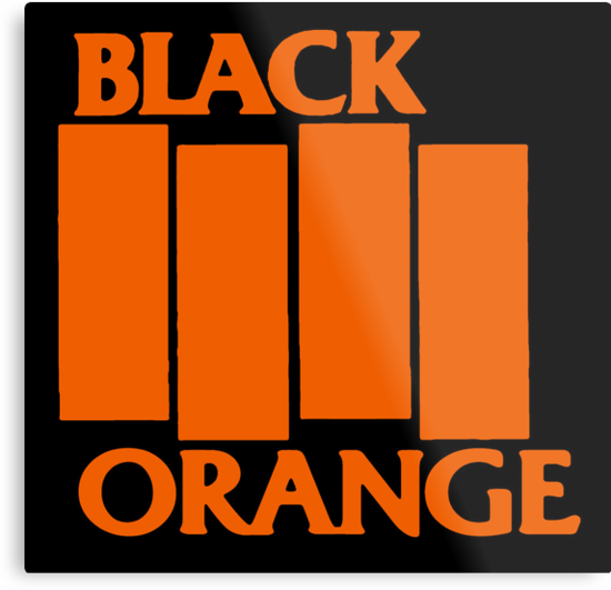Orange & Black Flag by sflassen