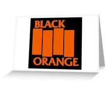 Orange & Black Flag Greeting Card