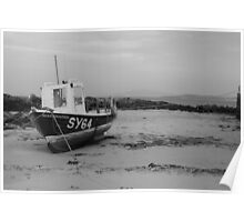 Boat on North Barra, Outer Hebrides Poster