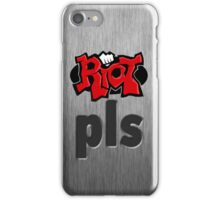 Riot Pls Metallic iPhone Case/Skin