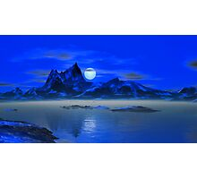 Moonrise - Blue Hills Photographic Print
