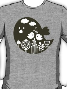 Birds and grass. T-Shirt