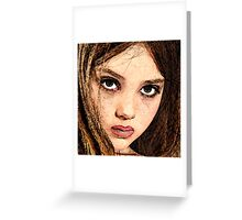 Face 14 Greeting Card
