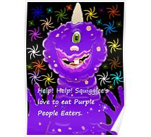 One Eyed, One Horned Purple People Eater Poster