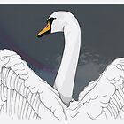 Swan by Stu  Jones