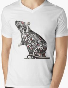 Mechanical Rat Mens V-Neck T-Shirt
