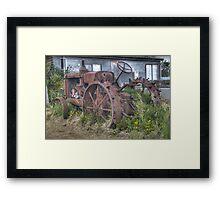 Abandoned tractor Framed Print