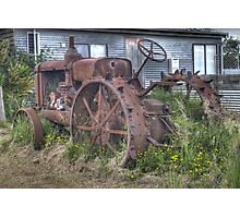 Abandoned tractor Photographic Print