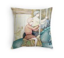 Carousel Ride Throw Pillow