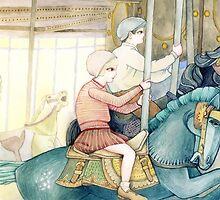 Carousel Ride by Yuliya Art