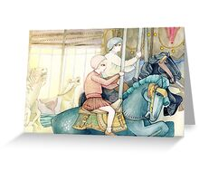 Carousel Ride Greeting Card