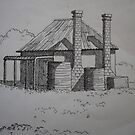 The Old Farmhouse by Richard  Tuvey