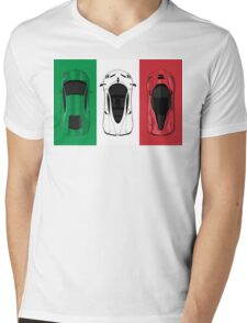 Tricolore Mens V-Neck T-Shirt