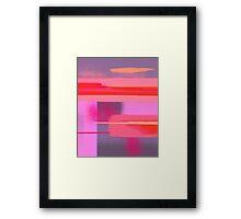 Sad at sunset Framed Print