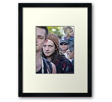 Face in a Crowd Framed Print