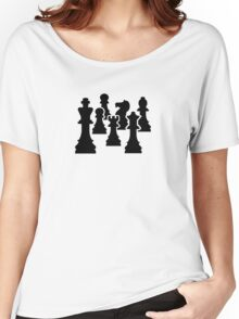 Chess board game Women's Relaxed Fit T-Shirt