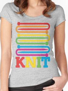 KNIT Rainbow Women's Fitted Scoop T-Shirt