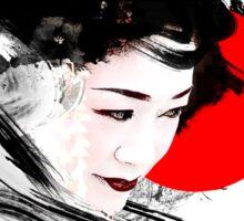 Japanese Geisha Sticker