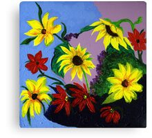 A Motley Bunch of Flowers Canvas Print