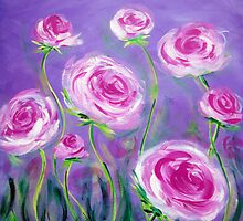 Pink Roses by Ira Mitchell-Kirk