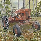 old farm tractor antique by derekmccrea