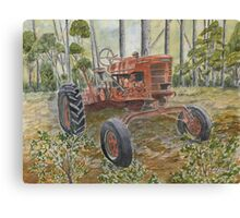 old farm tractor antique Canvas Print
