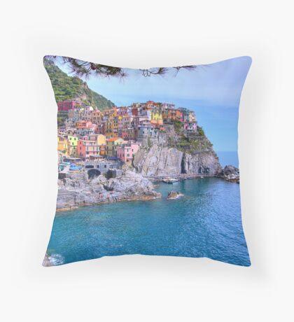 Manarola in Cinque Terre, Italy Throw Pillow
