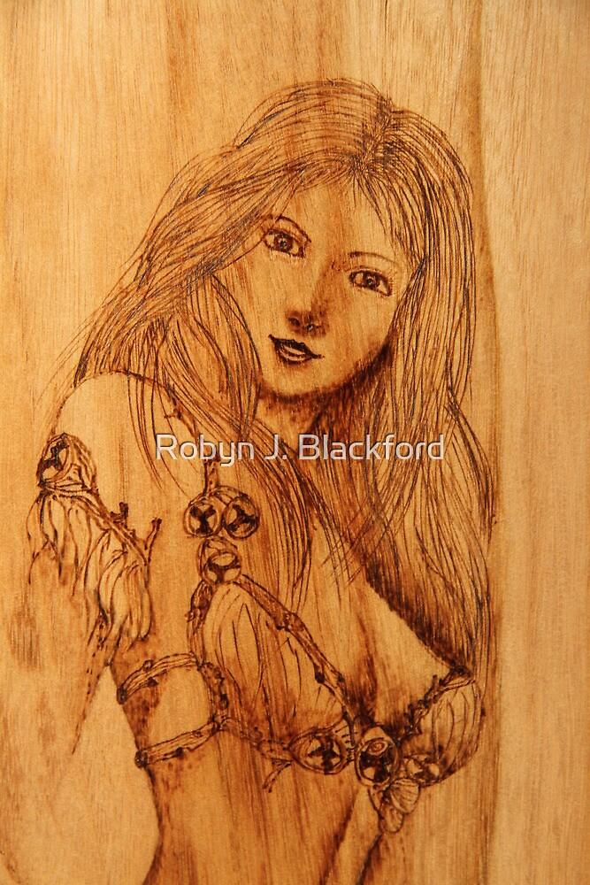 Pyrography: Gumnut Wood Nymph by aussiebushstick