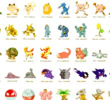 Pokemon Original 151 Sticker