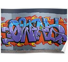 Colourful Lettering Graffiti Style Poster