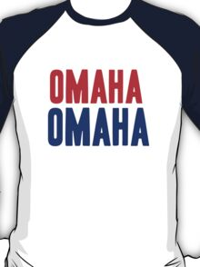 OMAHA OMAHA! (blue and red) T-Shirt