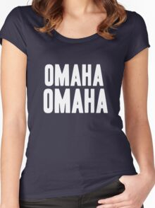 OMAHA OMAHA! (white) Women's Fitted Scoop T-Shirt