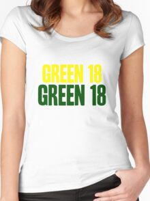 GREEN 18 - Aaron Rodgers - Green Bay Packers Women's Fitted Scoop T-Shirt