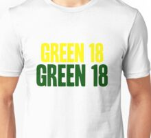 GREEN 18 - Aaron Rodgers - Green Bay Packers Unisex T-Shirt