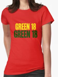 GREEN 18 - Aaron Rodgers - Green Bay Packers Womens Fitted T-Shirt