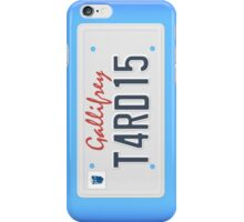 Tardis License Plate iPhone Case/Skin