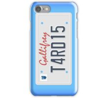 Tardis License Plate iPhone Case/Skin