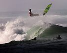 Surfer at Ala Moana Bowls .2 by Alex Preiss