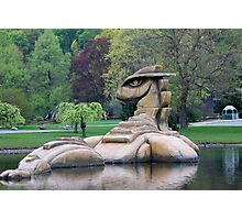 Loch Ness Monster in a Pond Photographic Print