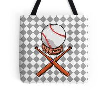 Baseball Pattern Tote Bag