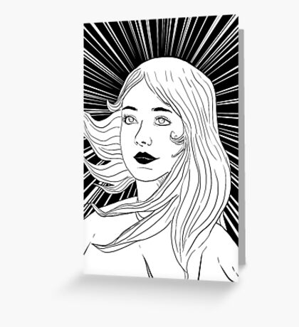victorious girl Greeting Card