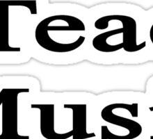 I Teach Music  Sticker