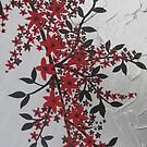 red and black blossom- bold and modern by cathyjacobs