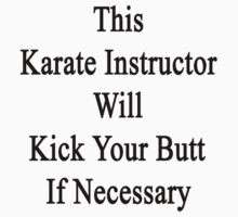 This Karate Instructor Will Kick Your Butt If Necessary  by supernova23