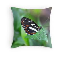 Black, white and red butterfly Throw Pillow